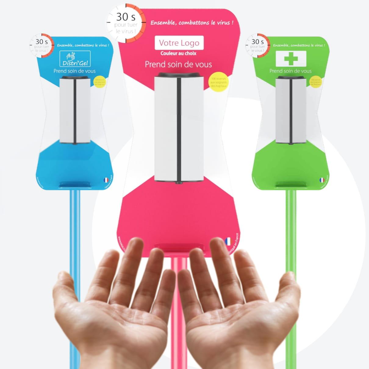 Distri'Gel Votre station gel hydroalcooliqueautomatique et sans contact